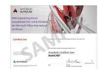 Gallery AMD Authorized Testing Center & Certificate Autodesk 2 autocad_certificate_user_1